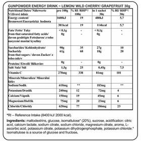 Chimpanzee Gunpowder Energy Drink Zitrone 20 x 30g